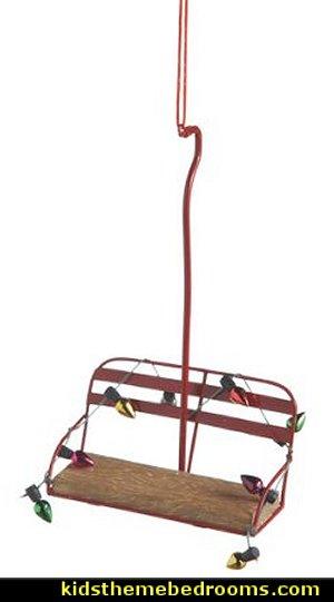 Ski Lift Christmas Ornament