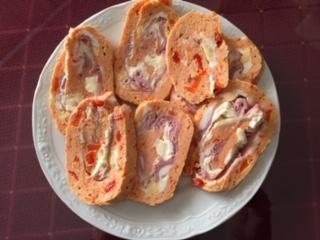 Pastel De Pollo Con Pimiento Piquillo,j York Y Queso En Microondas
