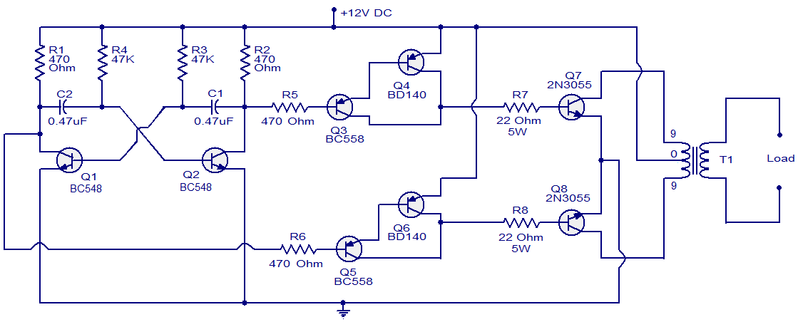 60w Pushpull Dcdc Converter Circuit Diagram Electronic Circuit