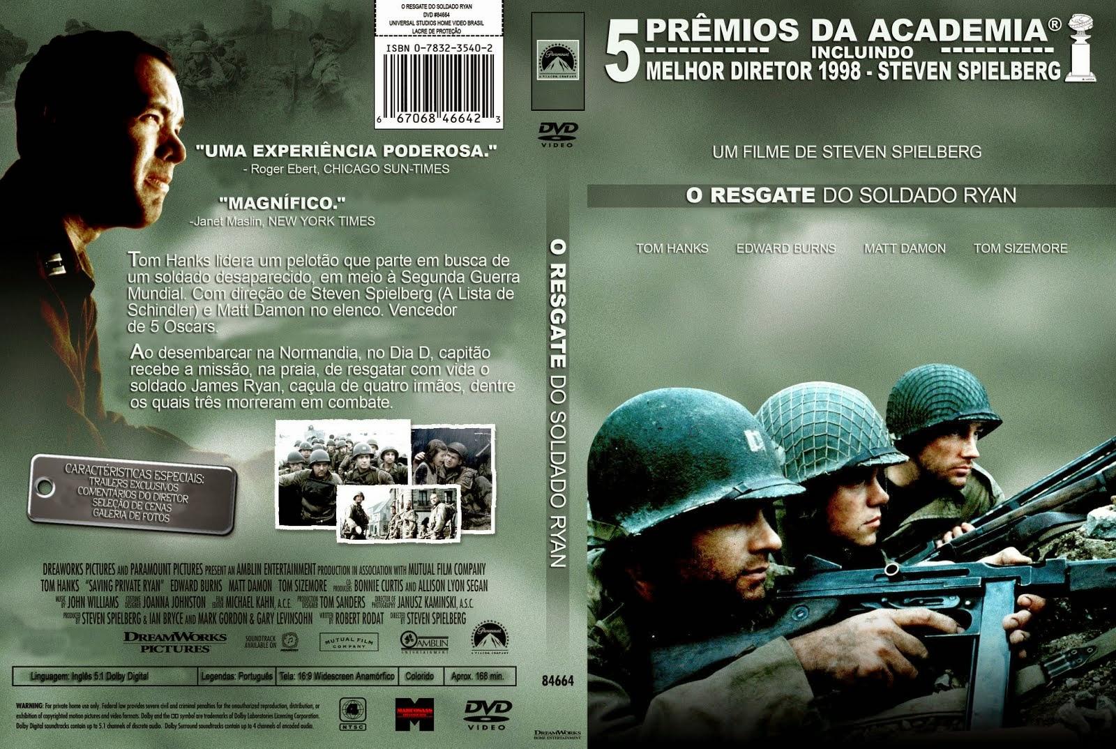 Filme - O Resgate do Soldado Ryan DVD Capa