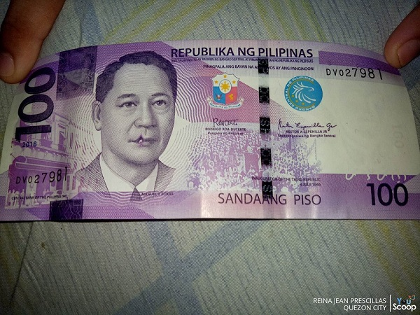 Netizen Shares Photo of Php100 Bills with Hilarious Printing Error