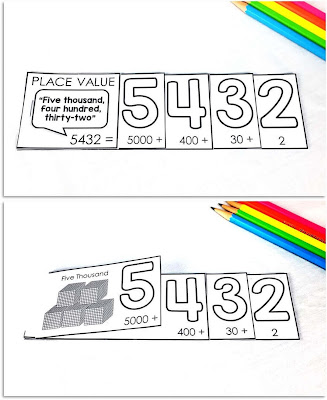 Whole Number Place Value Flip Book Foldables