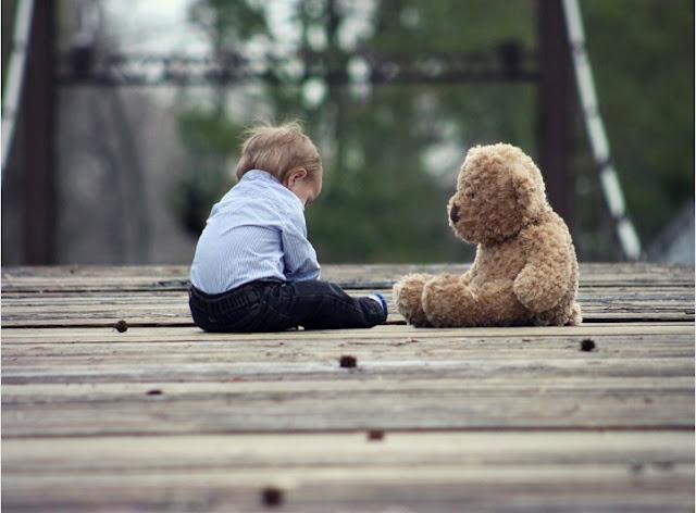 Baby with Teddy Bear Play Toy Teddy Bear Cute Child