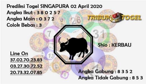Prediksi SGP Kamis 02 April 2020 - Prediksi Tribun Togel