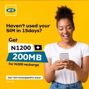 How to Get MTN GIVEAWAY MB of 12GB *121*208#