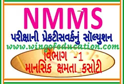Mental Ability Test (MAT) Solution Gujarati Book For NMMS Exam