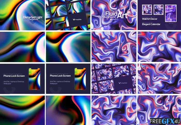 20 Fluid And Light Background