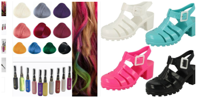 hair mascara and jelly shoes 90s fashion nostalgia