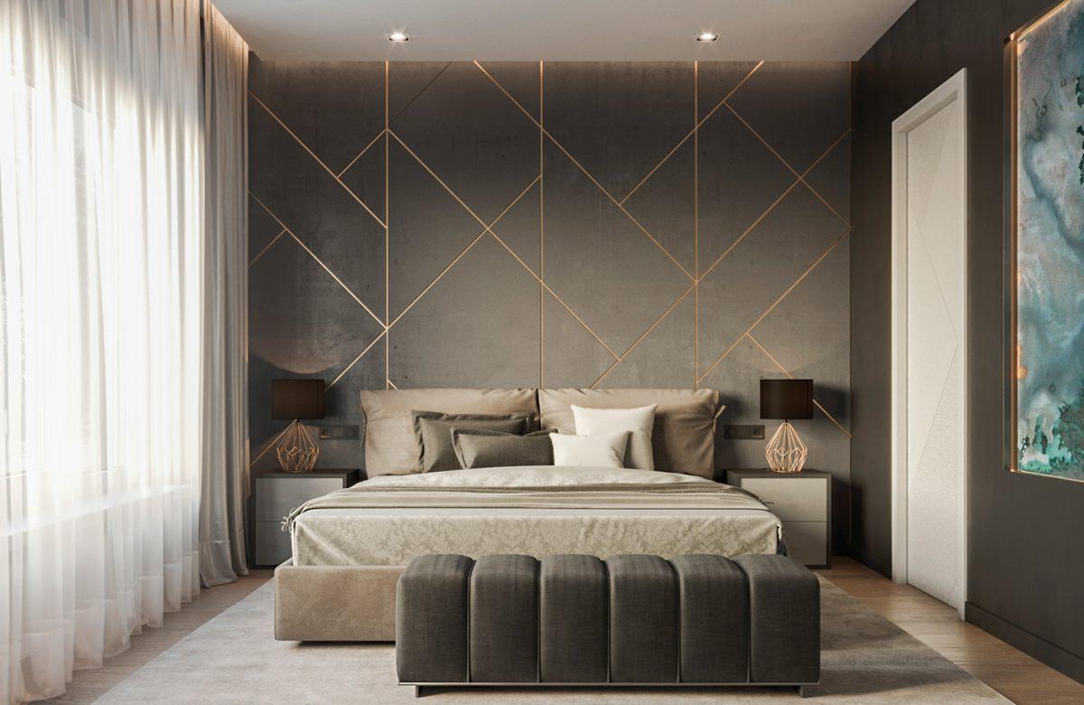 Modern Bedroom Wall Decorating Design Ideas