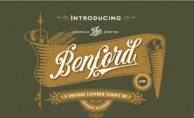 Benford–Free-Vintage-Logo-Font