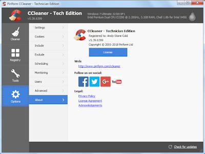 Screenshot CCleaner Technician Edition 5.39.6399 Full Version