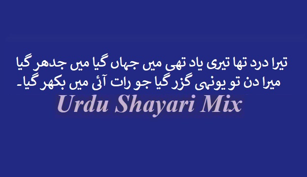 تیرا درد تھا تیری یاد تھی | Sad shayari | Urdu sad shayari
