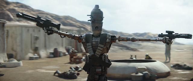 ig robot shooting mandalorian