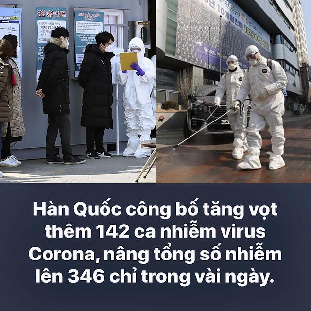 Hàn Quốc chao đảo khi liên tiếp phát hiện hàng trăm người bị nhiễm COVID-19