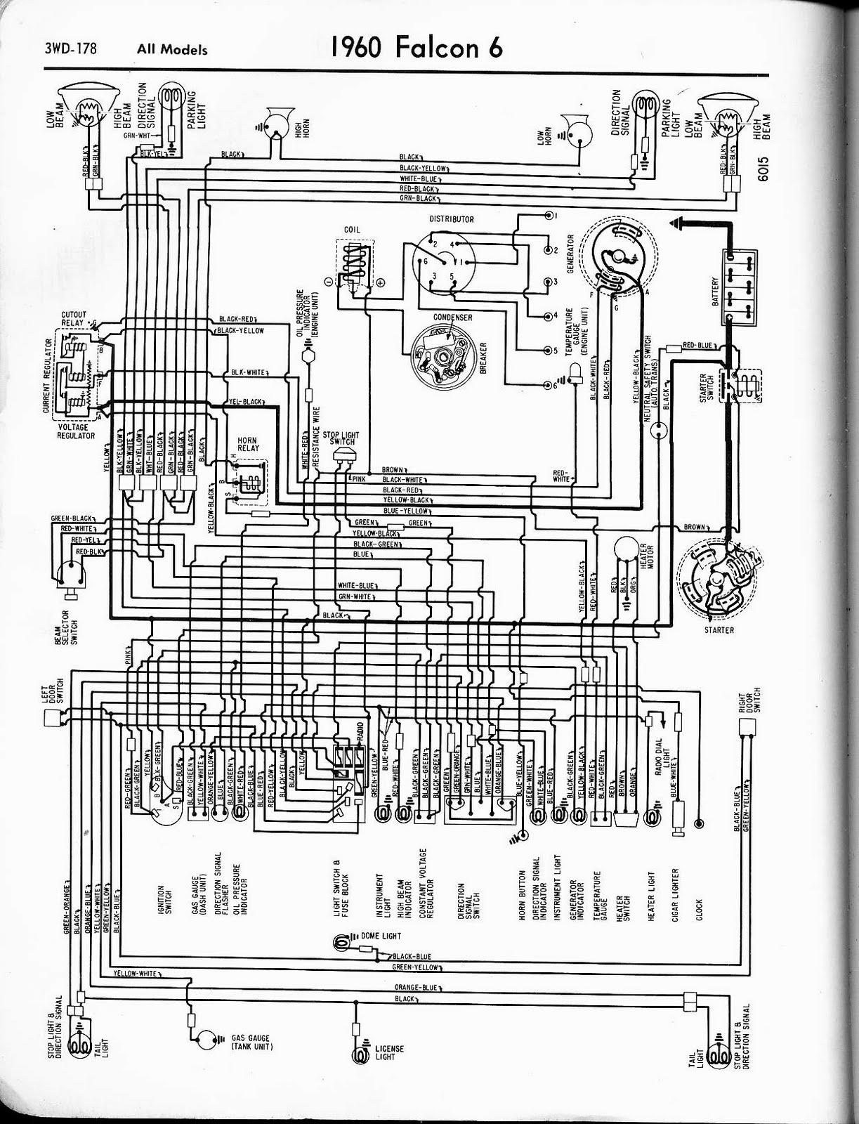 Free Auto Wiring Diagram: 1960 Ford Falcon V6 Wiring