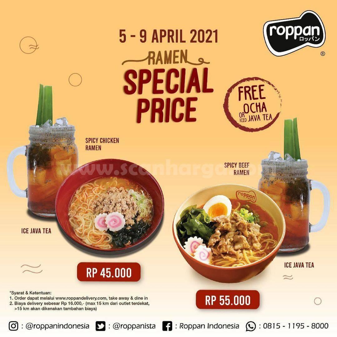 ROPPAN Promo RAMEN SPECIAL PRICE! Paket Ramen + Minuman Harga Mulai Rp 45.000