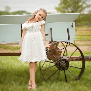 Dutch white color flower girl wedding dress