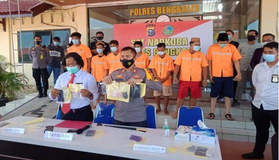 Berperan Sebagai Bandar Narkoba, Oknum Ketua LSM/Anggota LAN Ditangkap Polres Bengkalis