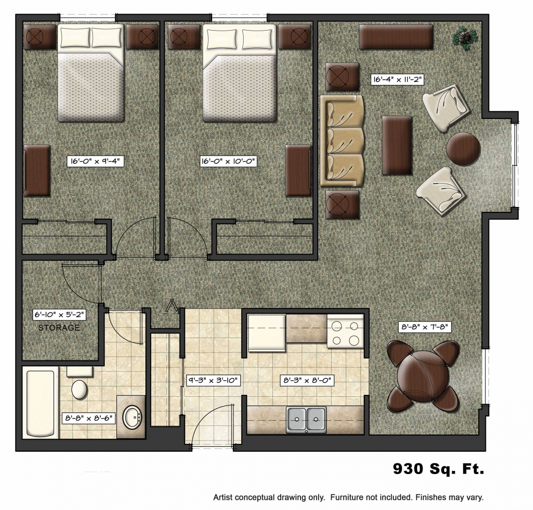 Foundation dezin decor residential layouts 3d view for Floor plans with pictures