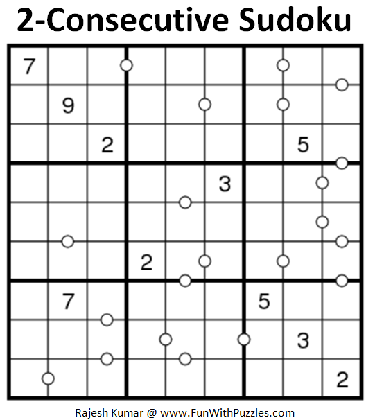 2-Consecutive Sudoku Puzzle (Fun With Sudoku #235)