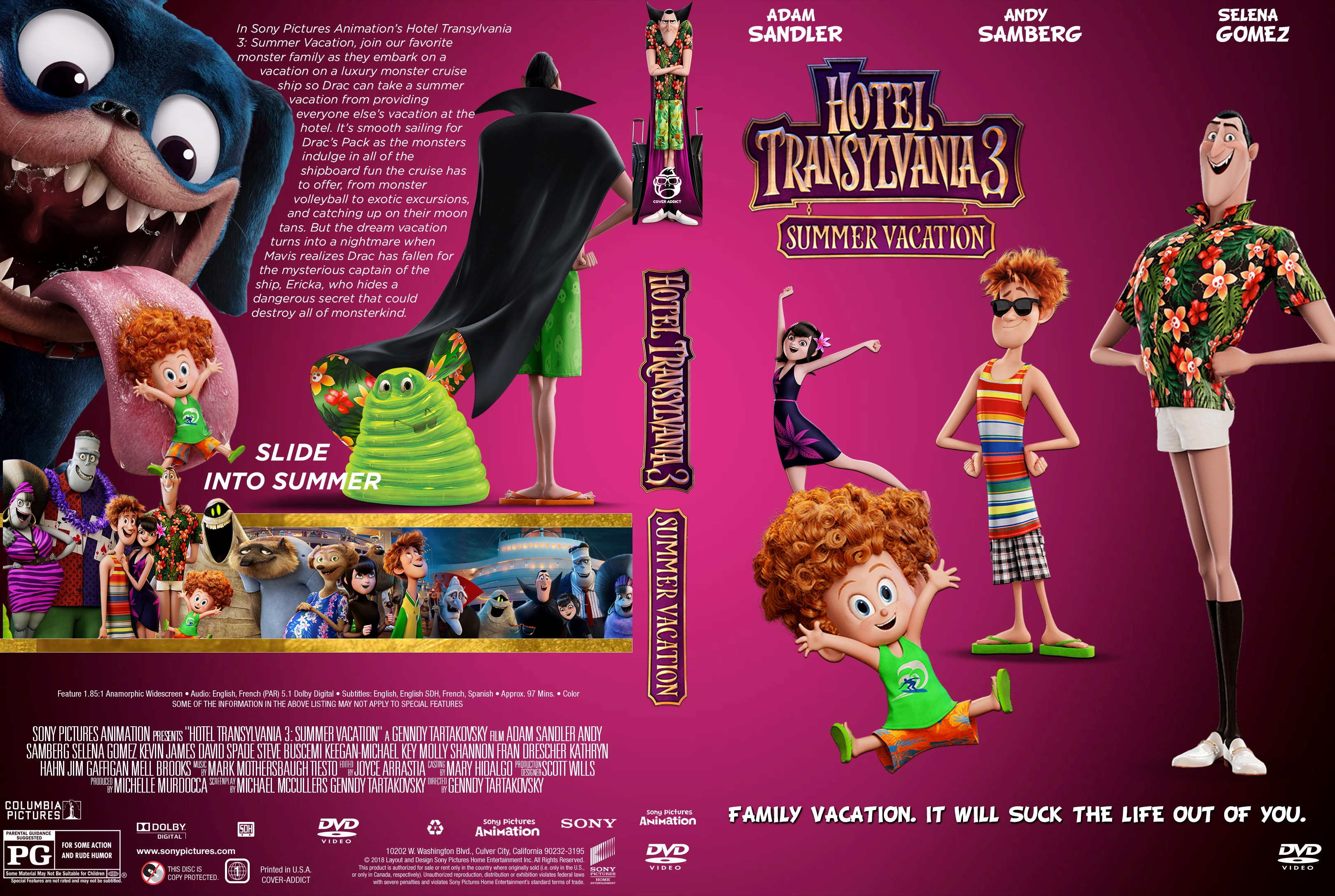 Summer Vacation DVD Cover Hotel Transylvania 3
