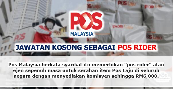 Jawatan Kosong Pos Malaysia | Komisyen Sehingga RM6000!