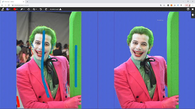 [ Enumcut ] Joker costume play model Photo - Remove Background From Image  (Example)