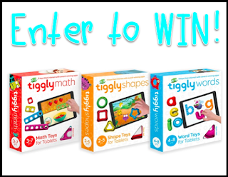 Tiggly is a learning system aimed at children ages 4-8. It gives a hands-on experience with the app and teaches concepts like letter and word recognition, shapes, and beginner math. Enter for your chance to win a bundle of 3 learning systems.