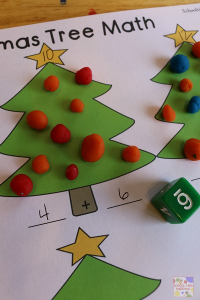 Christmas Math Printables for Preschoolers