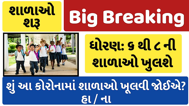 Reopen For Students Of Classes 6 To 8 From 18 th February : Gujarat News