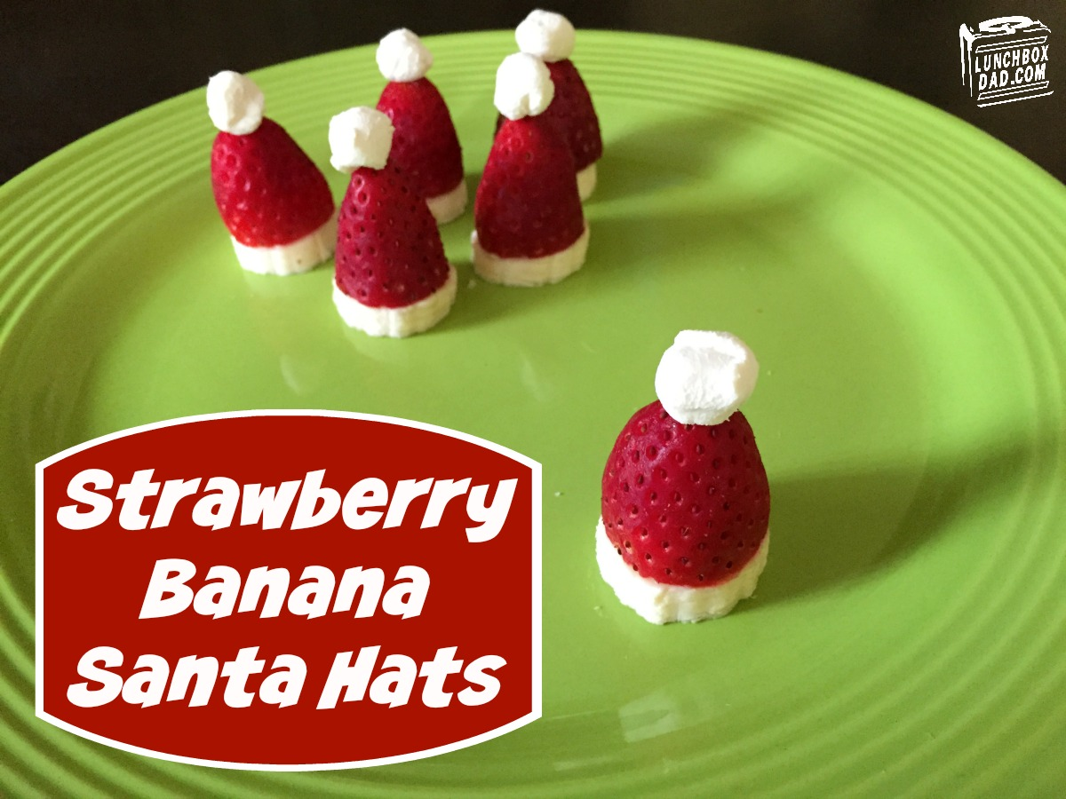 Strawberry Banana Santa Hats