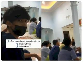 Viral Anak Muda Ber-KTP Kristen Masuk Masjid Ikut Salat Tarawih, Netizen Respon Positif