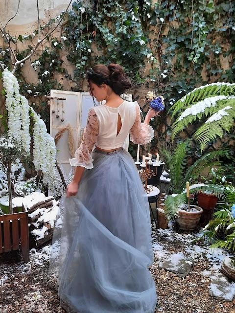 Robe de mariée Botanica Blue, Paris