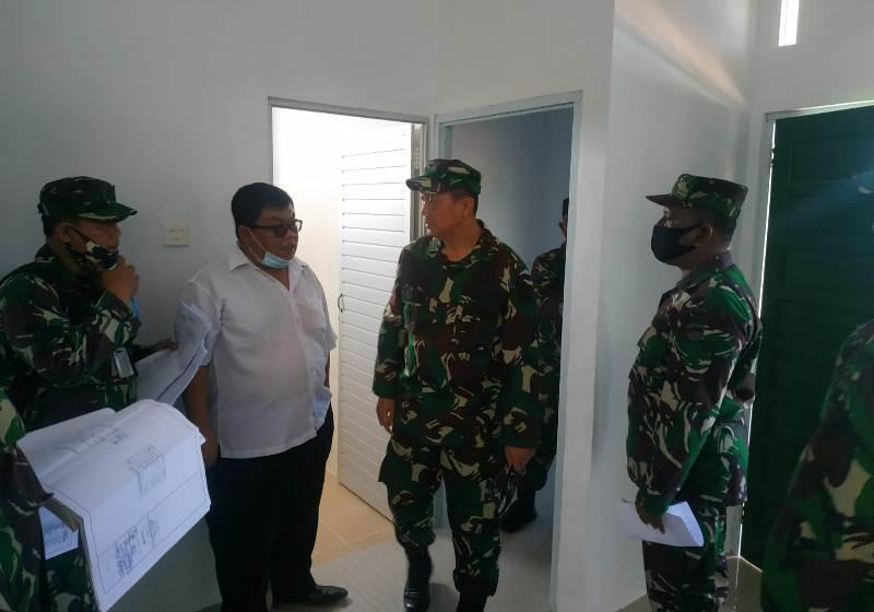 Korem 033/WP menerima Tim Pengawasan dan Pemeriksaan Itdam I/BB