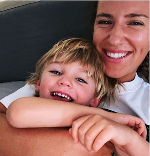 Tsvetana Pironkova And Her Baby Boy