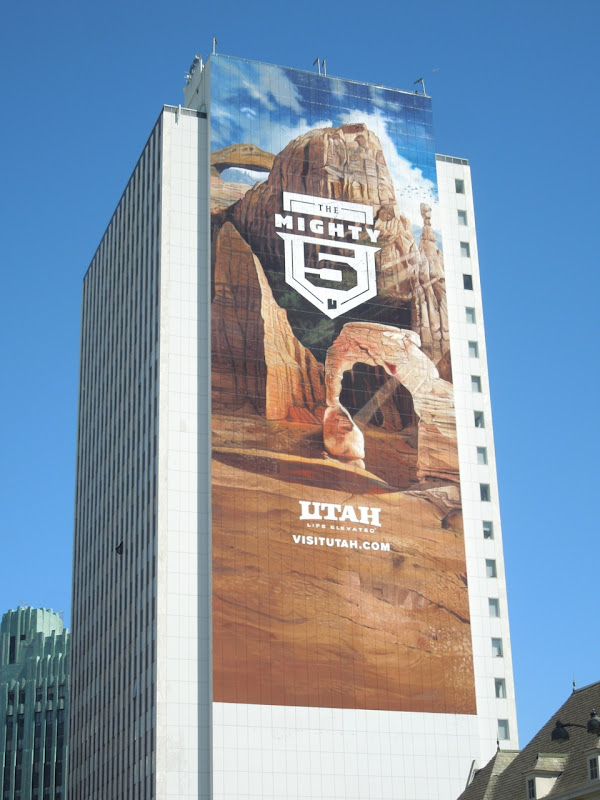 Giant Utah The Mighty 5 tourism billboard