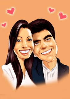 desenho de casal apaixonado