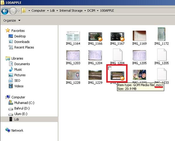 memindahkan video dan foto dari iphone 4S ke laptop