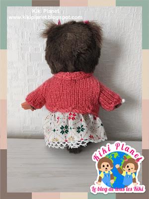 kiki monchhichi fait main tricot poupée pull