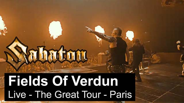 Sabaton - Fields Of Verdun (Live - The Great Tour - Paris)