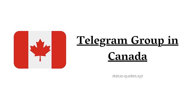 CanadaTelegram Group Link