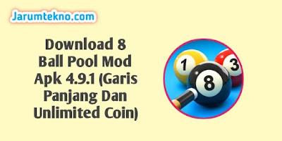 Download 8 Ball Pool Mod Apk 4.9.1 (Garis Panjang Dan Unlimited Coin)