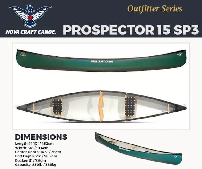 Nova Craft Prospector 15 SP3 Canoe Giveaway ( Worth Over : $999)