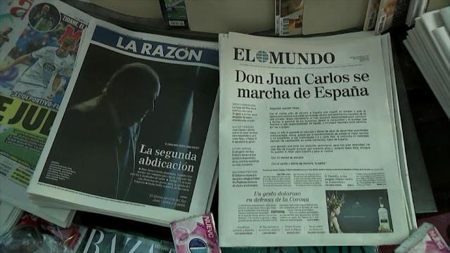 El rey emérito de España huye del país para evadir la justicia