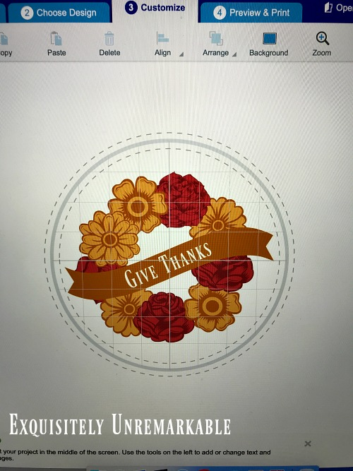 DIY Wreath Sticker that says Give Thanks