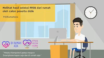 Melihat hasil seleksi PPDB dari rumah oleh calon peserta didik #DiRumahAja