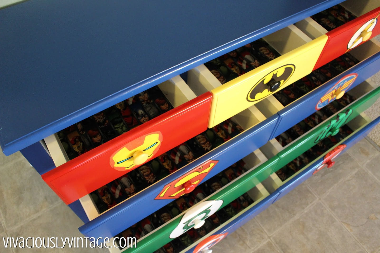 diy superhero dresser