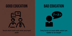 Good education with bad one.