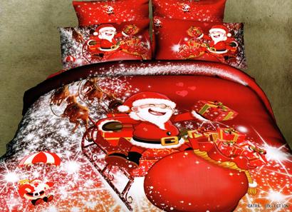 Sprei Satin Jepang Super Motif Merry Christmas
