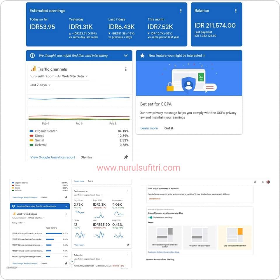 Pengalaman Pertama Gajian Google AdSense Cara Daftar dan Aktivasi Iklan Nurul Sufitri Travel Lifestyle Blog